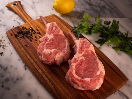 FRENCHED VEAL RACK CHOPS (4 PER PACK)