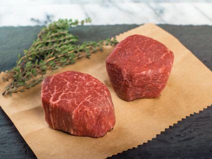 Australian Wagyu Kobe Beef Style Marble Score 8/9 Beef Filet Steaks