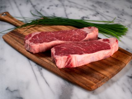 Naturally Raised Prime Strip Steaks (4 per pack)