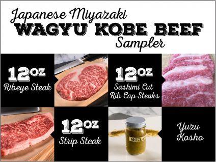 Japanese Miyazaki Wagyu Kobe Style Beef Sampler