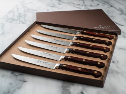 K-Sabatier Table Knives Set of 6, Auvergne Collection