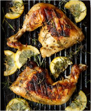 Grilled Chicken Marinated in Rosemary and Olive Oil
