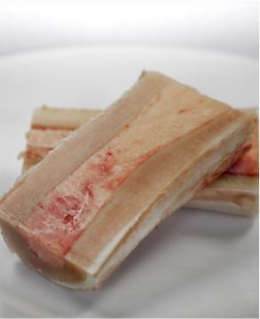 Roasted Marrow Bones with Radish, Gremolata, Roasted Garlic & Toast
