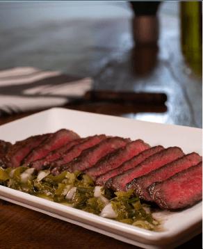 Wagyu Steak with Pickled Jalapeno & Green Tomato Chimichurri